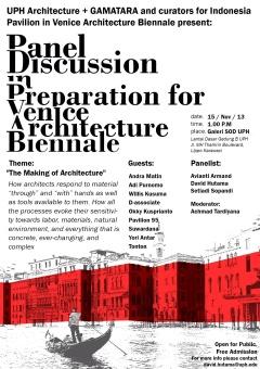 Preparation for Venice Architecture Biennale
